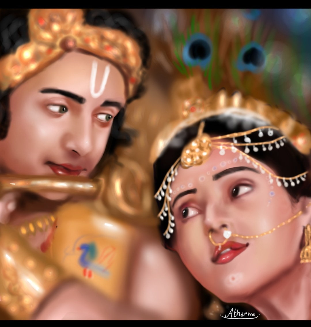 Radha-Krishna- digital sketches Showflipper