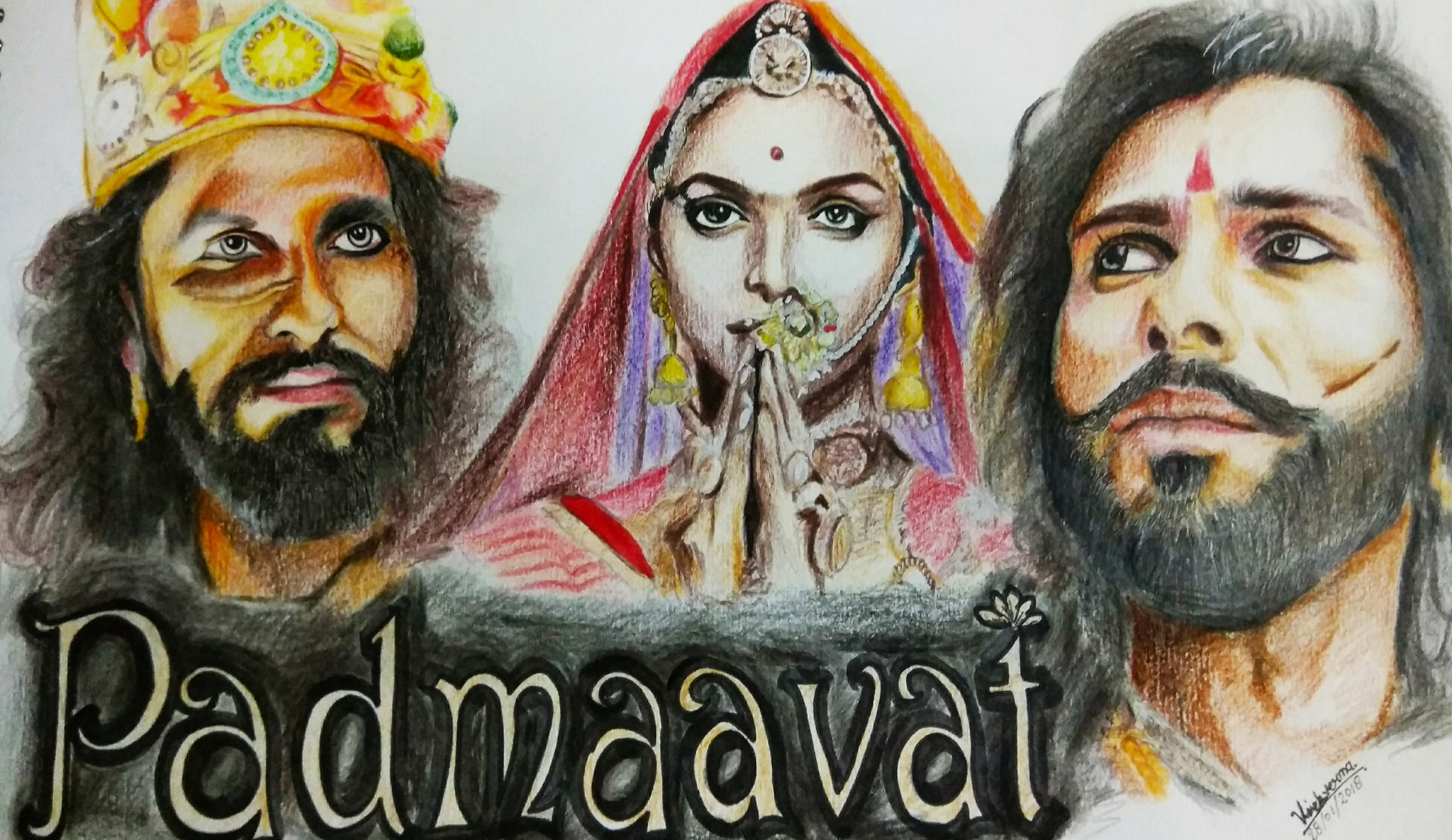 Padmavat Pencil Work-paintings Showflipper
