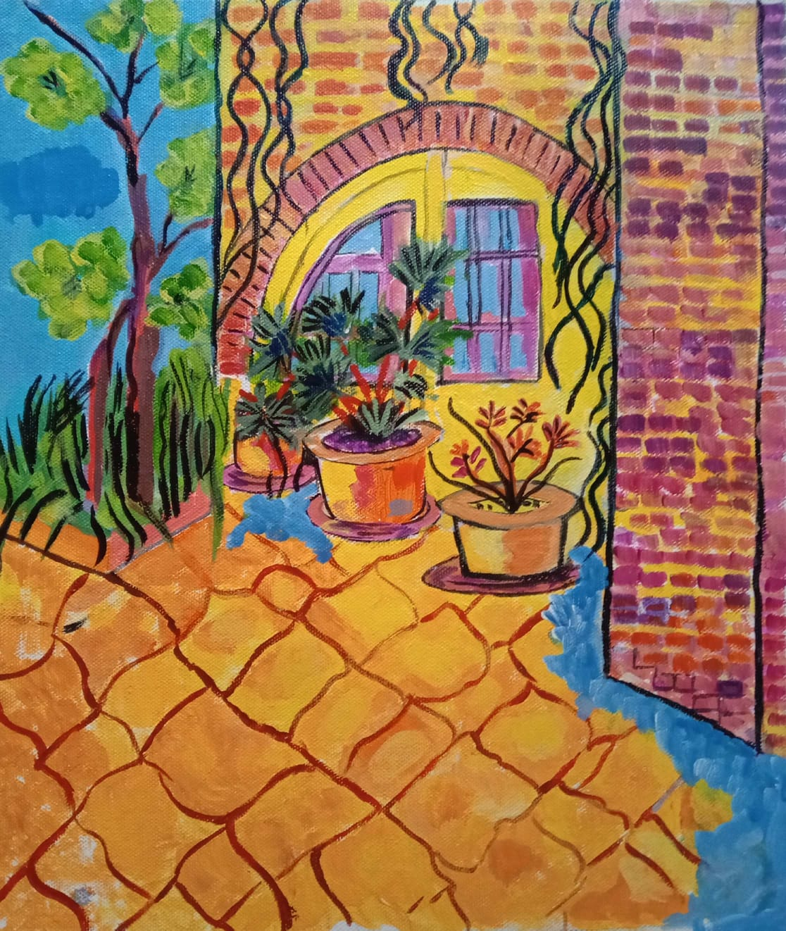 THE HOUSE AND THE GARDEN-paintings Showflipper