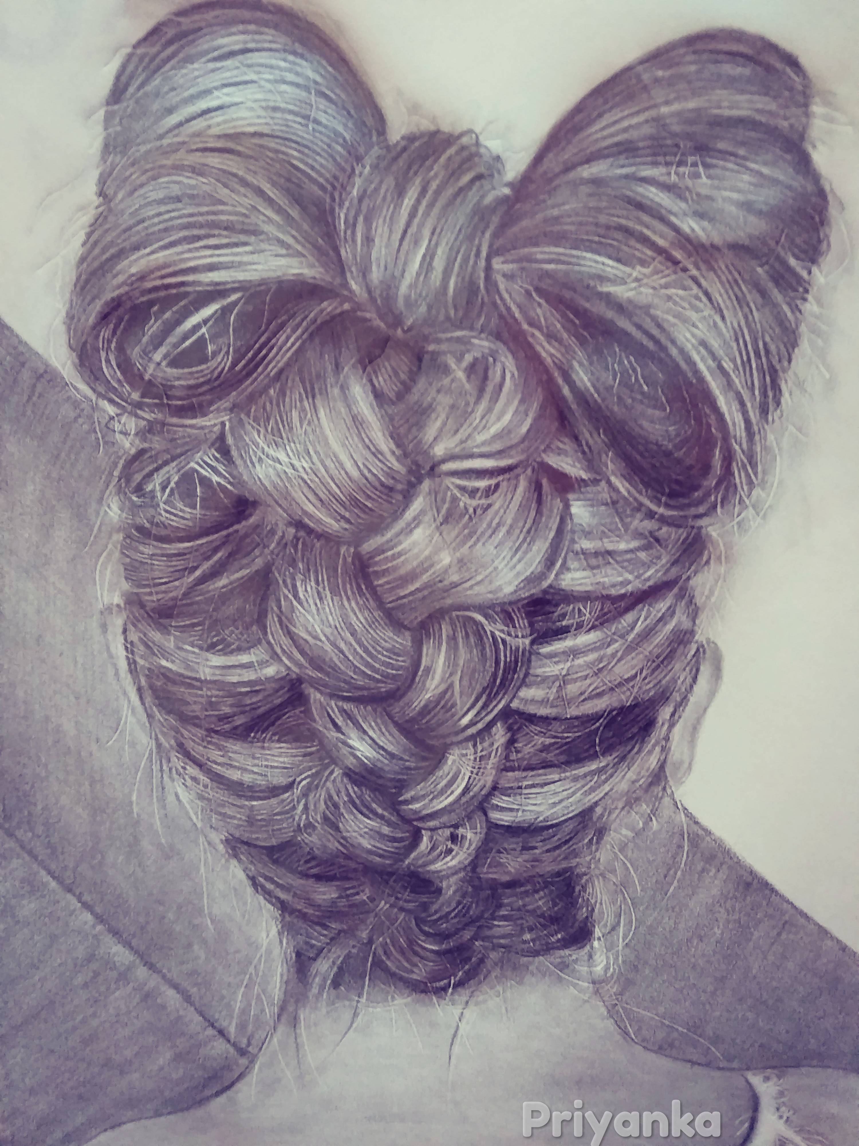 French Braid Digital Print-digital sketches Showflipper
