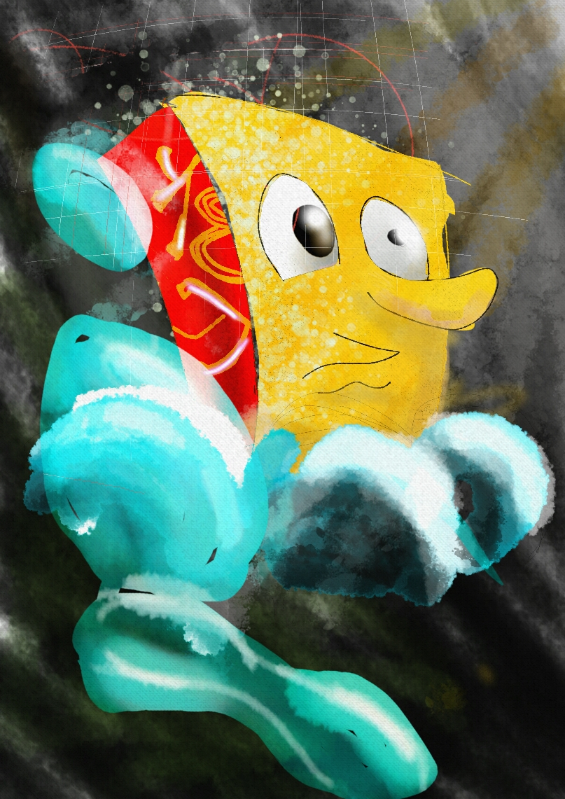 Unusual Sponge Bob-illustration Showflipper