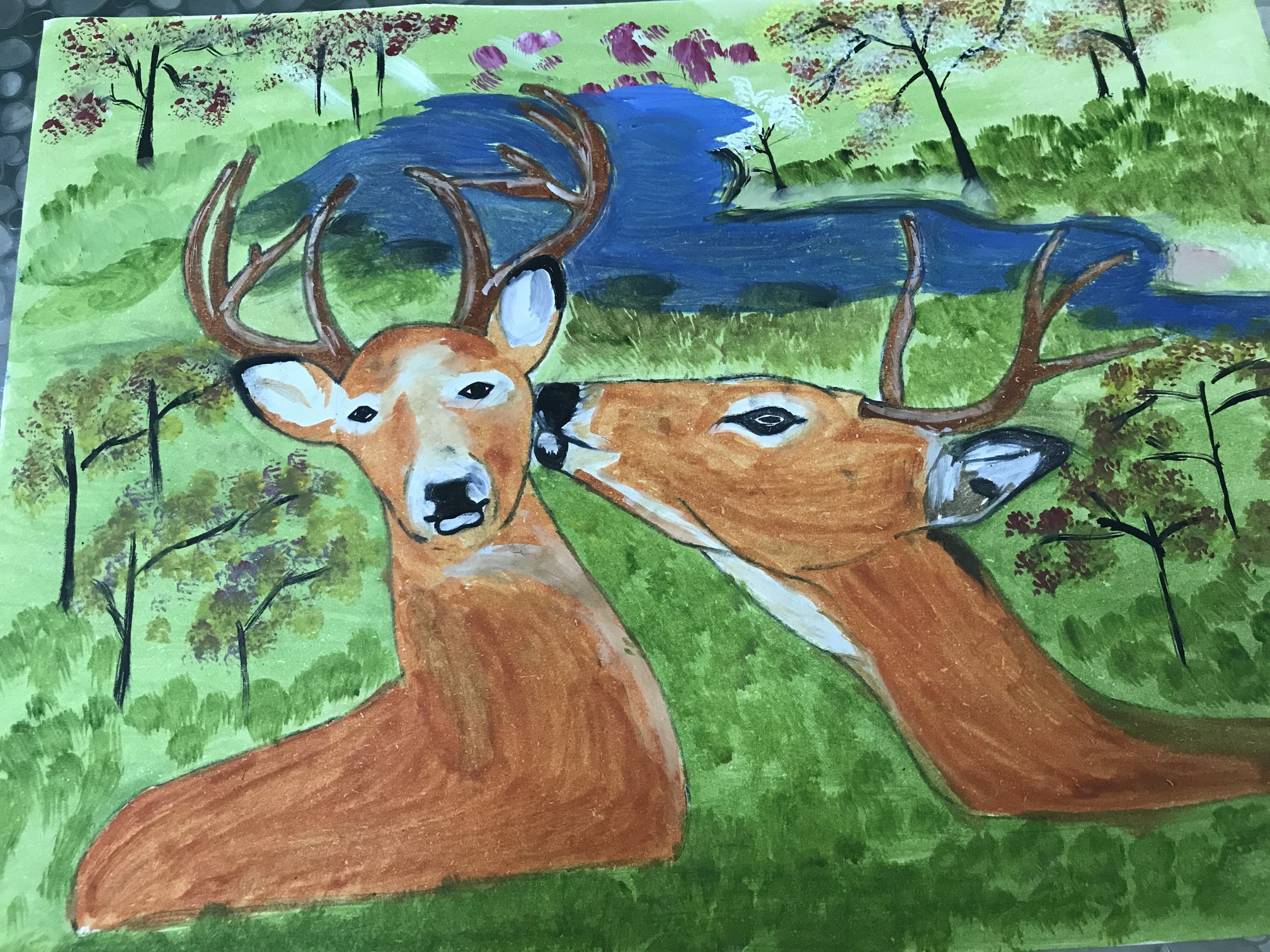 Deer Painting-paintings Showflipper
