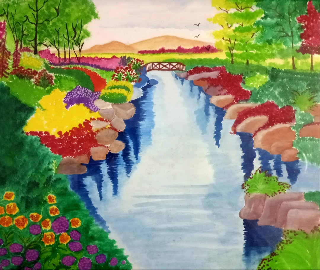 Heidi  Spring Scenery-paintings Showflipper