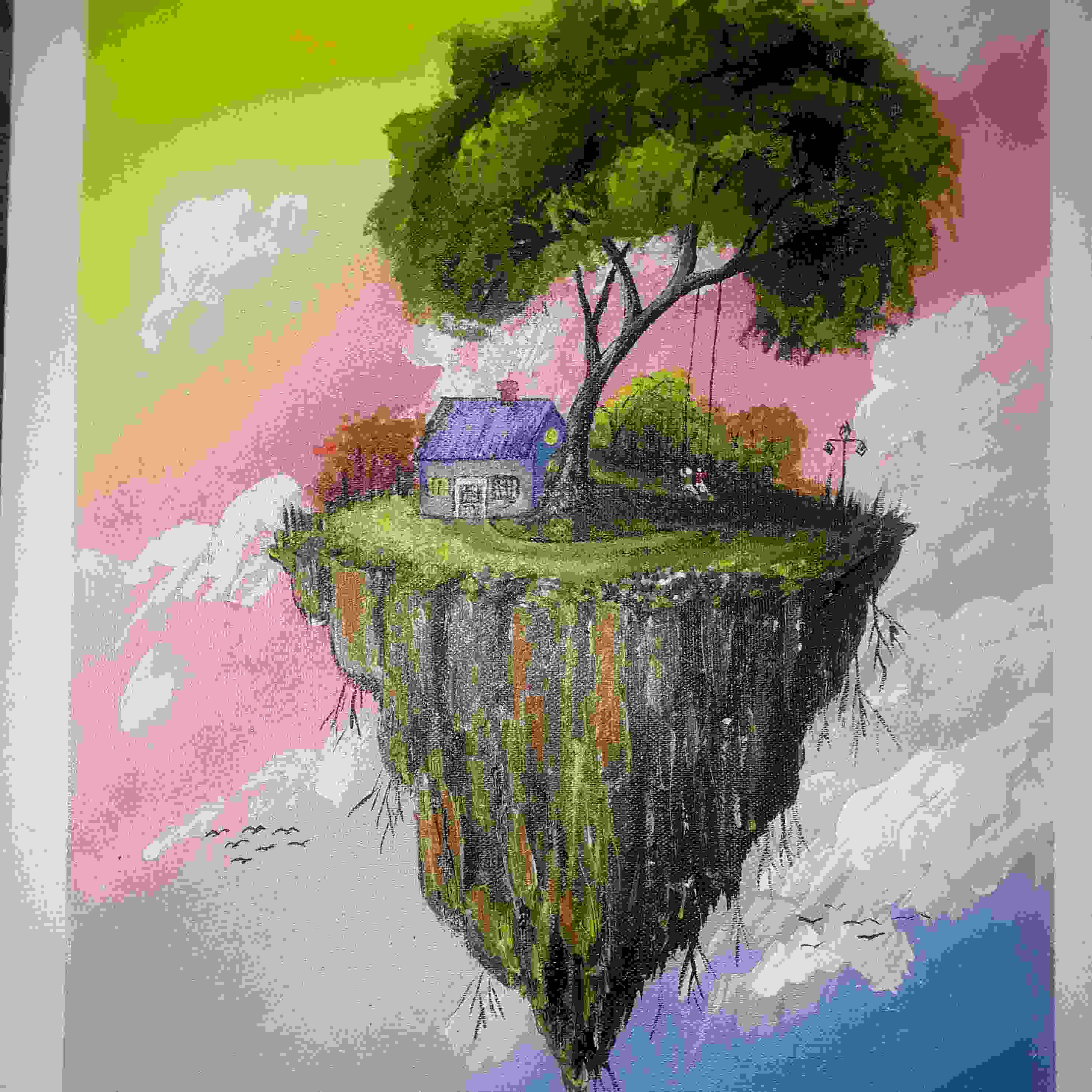 Floating Island-paintings Showflipper