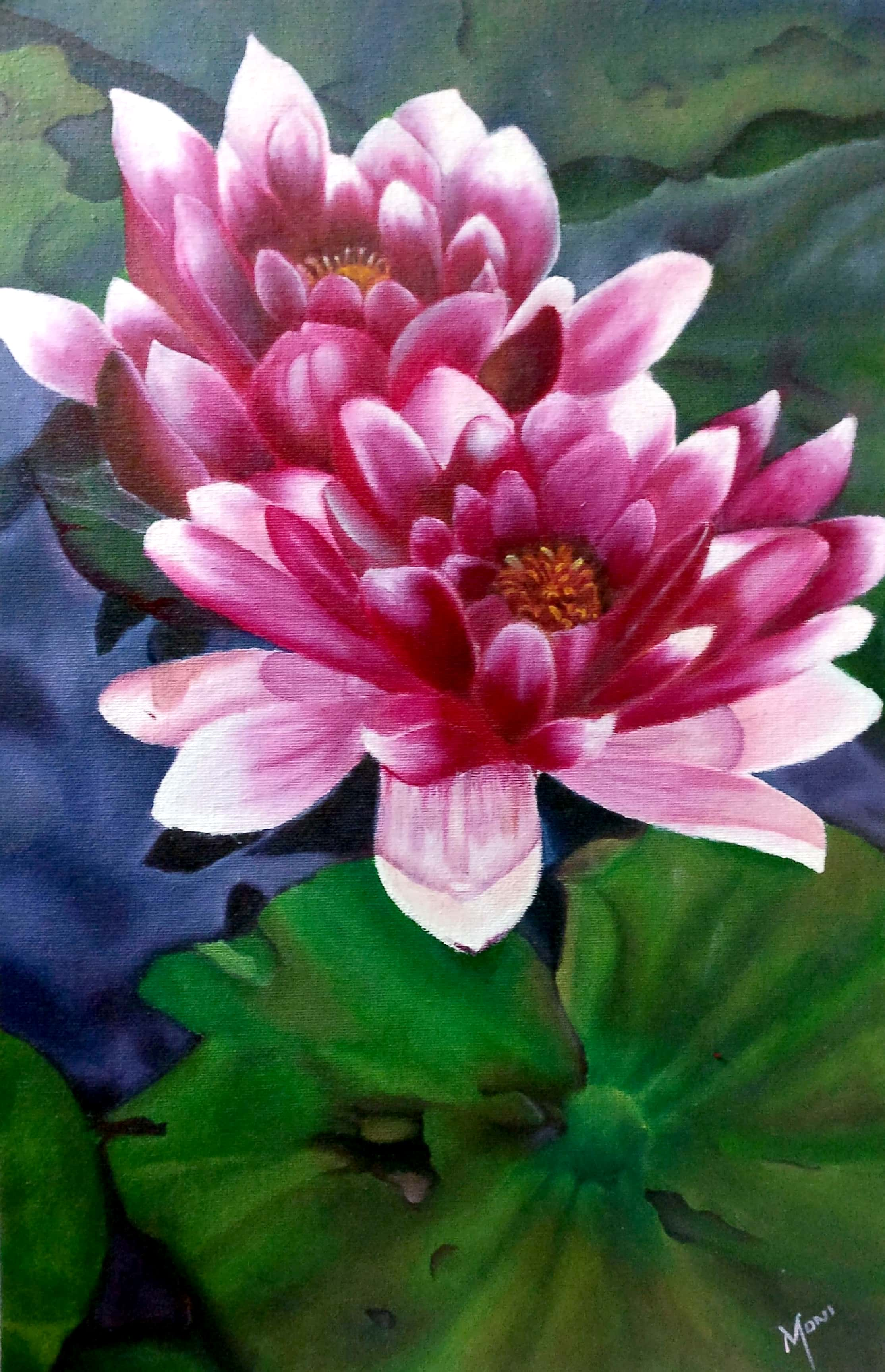 Purity Of Lotus-paintings Showflipper