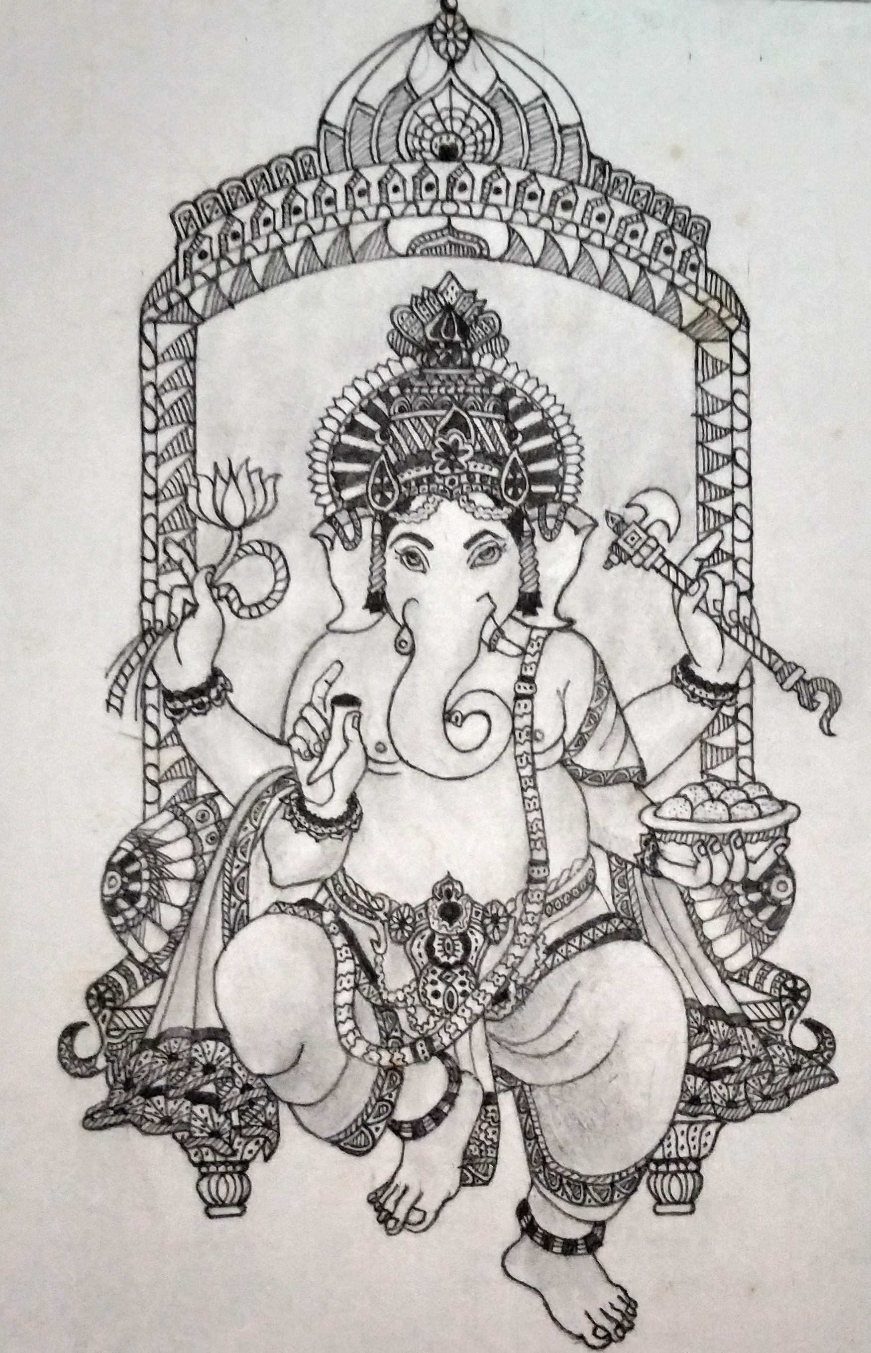 Lord Ganesha-drawing Showflipper