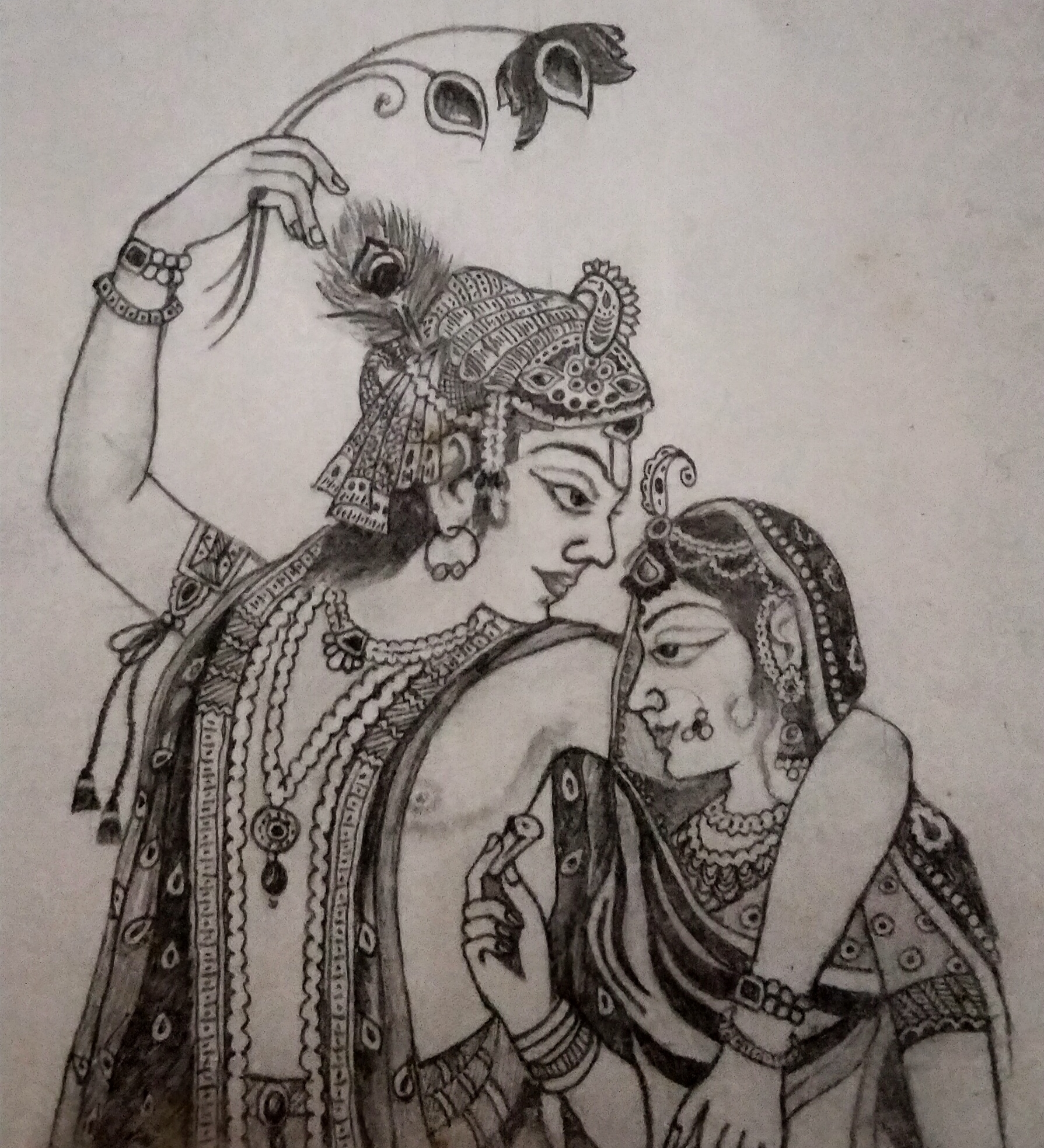 Radha Krishna-drawing Showflipper