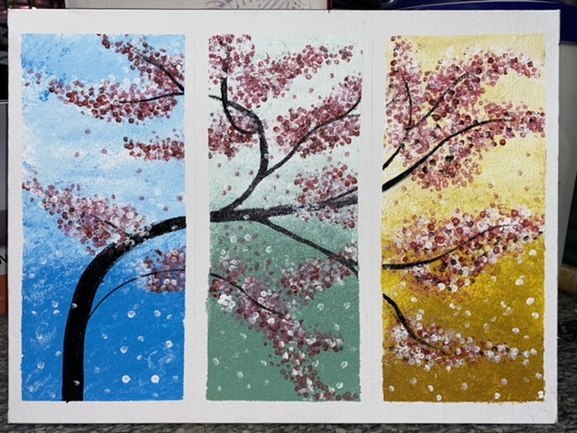 Three Piece Painting -paintings Showflipper