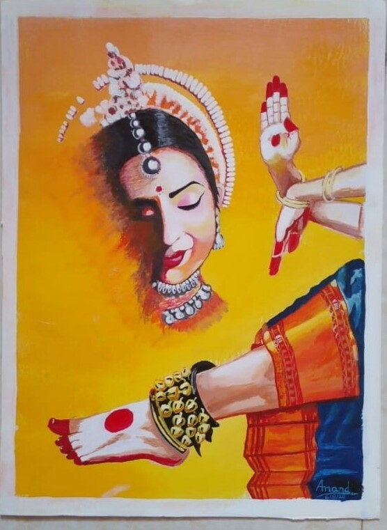 Portrait Paintings  Feel Of Odissi Classical Dance -paintings Showflipper