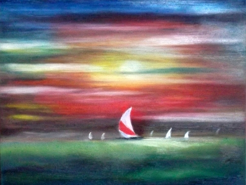 Sailing into Darkness Fine Art