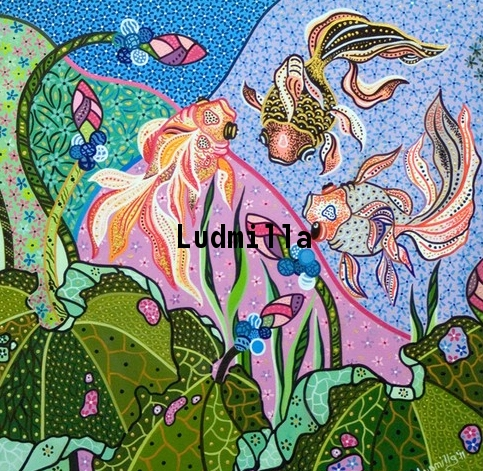 Fish Painting by Ludmilla