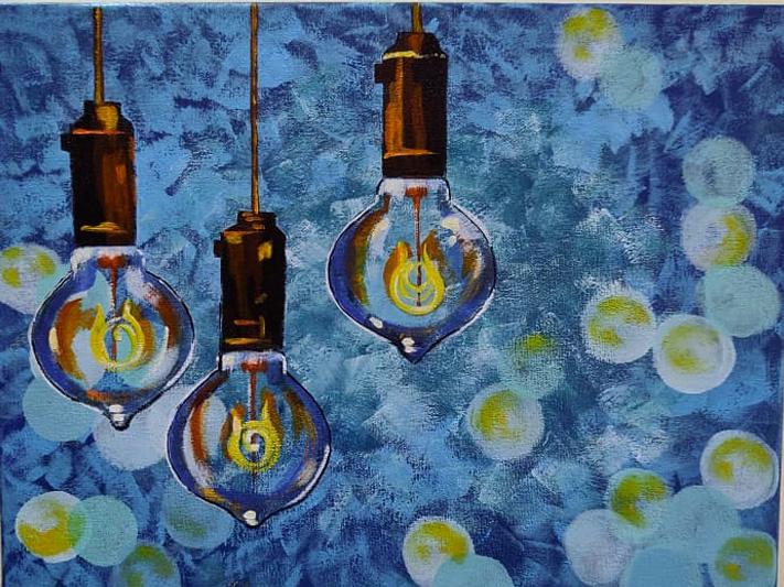 Festive Spark-paintings