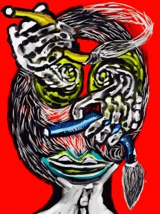 Flowing Through Eyes Digital  Art