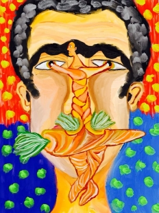 Self Portrait Carrot Digital Art