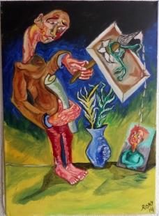 Triste Lienzo Fine Art