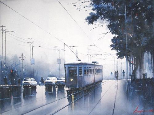 Landscape Watercolour Painting Fine Art
