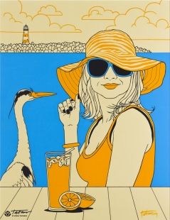 On The Beach Long drink Fine Art  by Vera Tataro