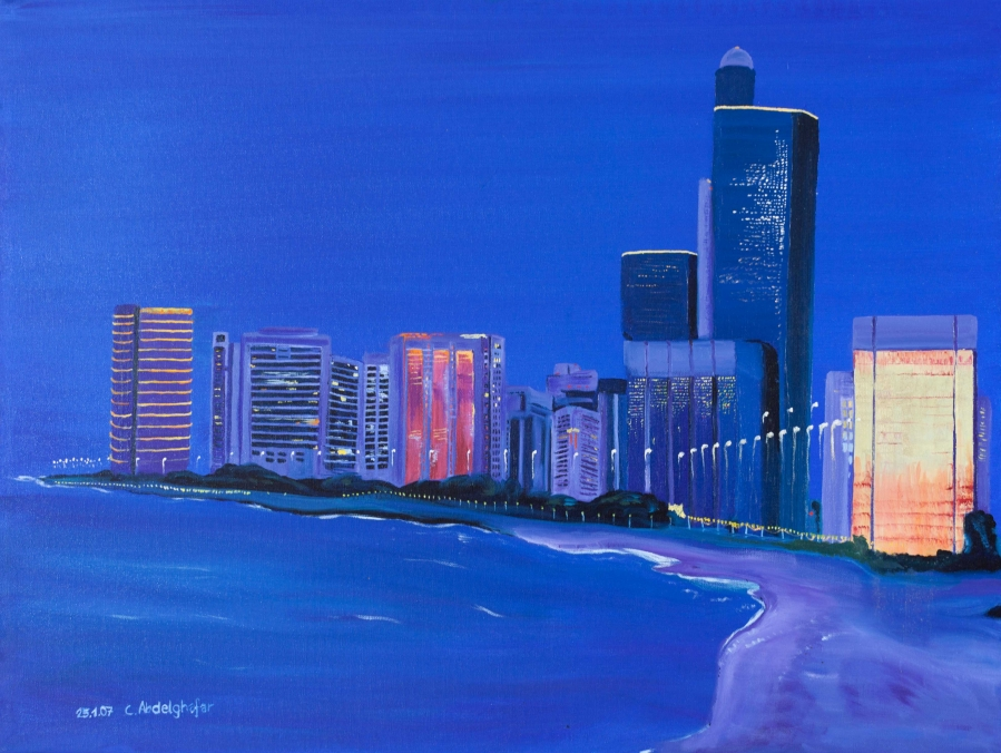 Abu Dhabi while sunset Painting