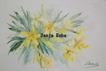 Yellow Oleander Painting