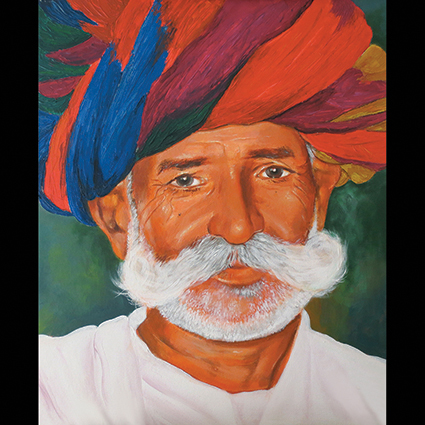 Tradition_Rajasthan Old Man Fine Art