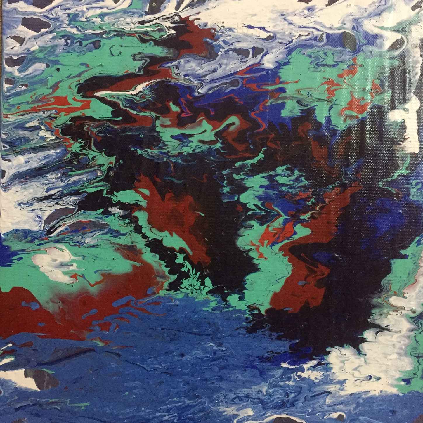 Fluid Abstract Acrylic Painting