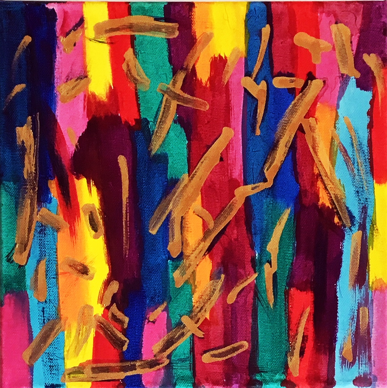 Multicolored Painting  Fine Art