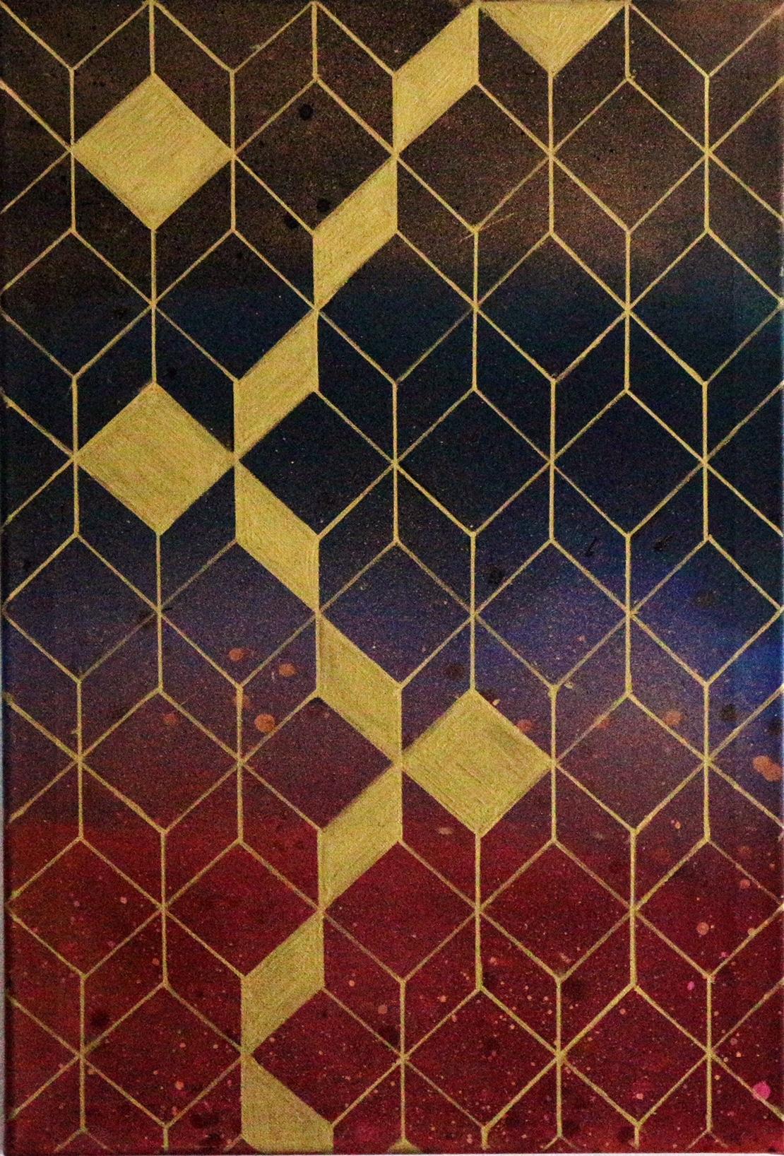 Gradient Cubes Art  Fine Art by Shajulu Azeez