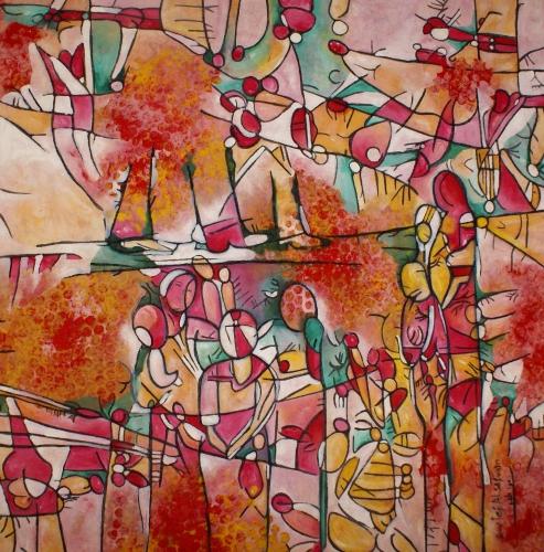 Creation 8 Fine Art by Awatif Alsafan
