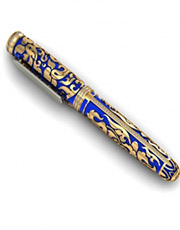 Pen with meenakari jewelry