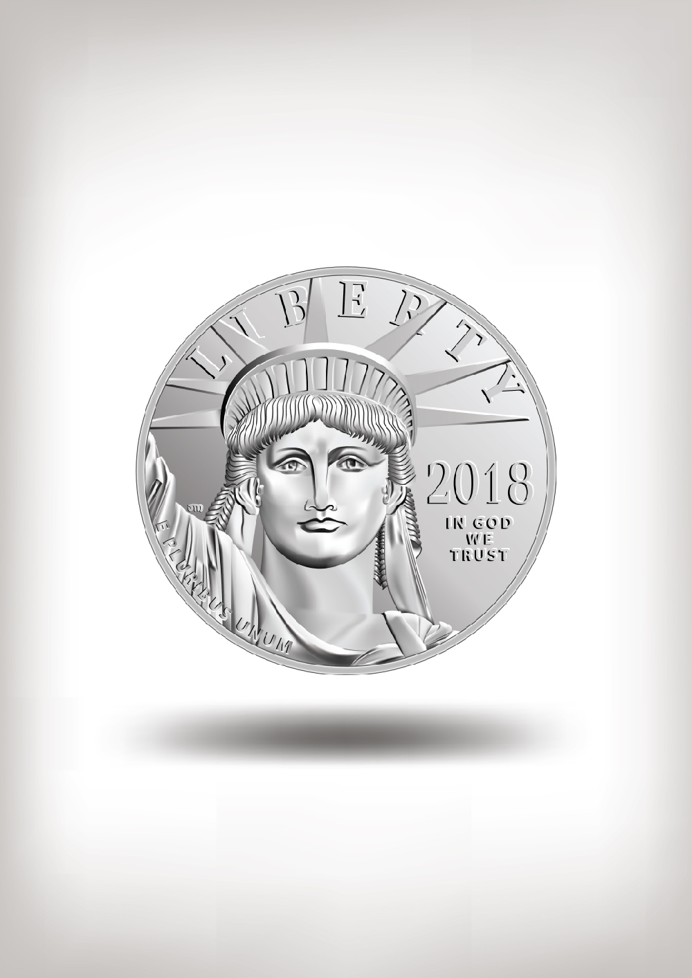American Dollar Coin In Vector Illustration Fine Art