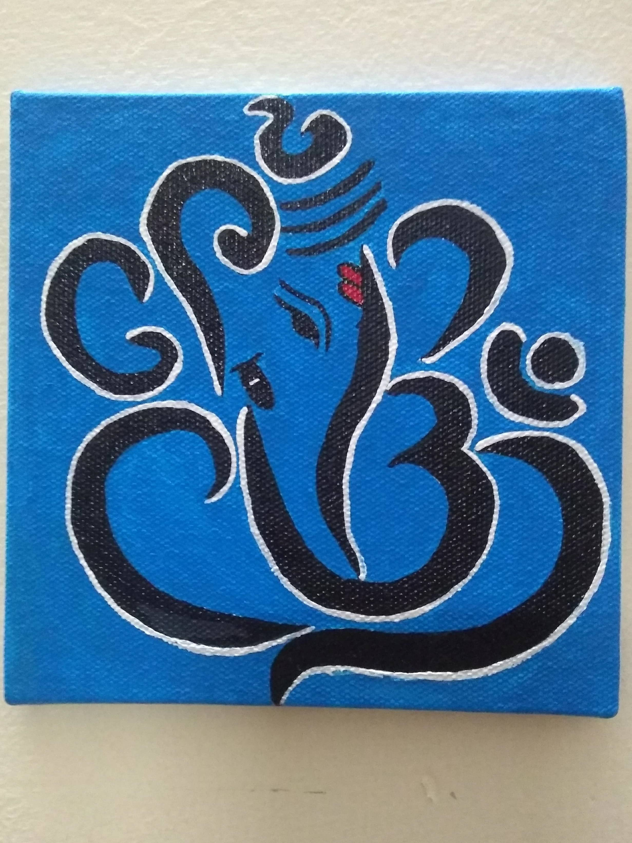 Ganpati Painting  Fine Art