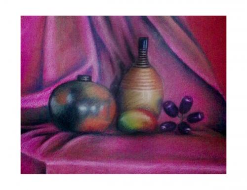 Oil Pastel still life