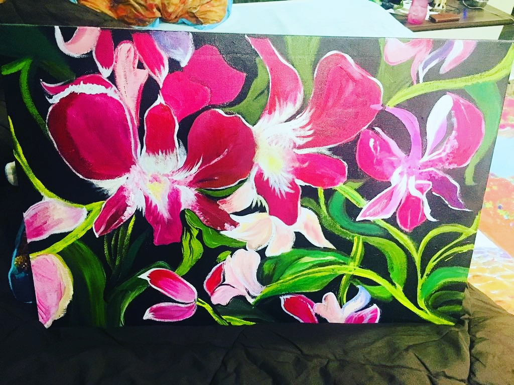Orchids Painting Fine Art