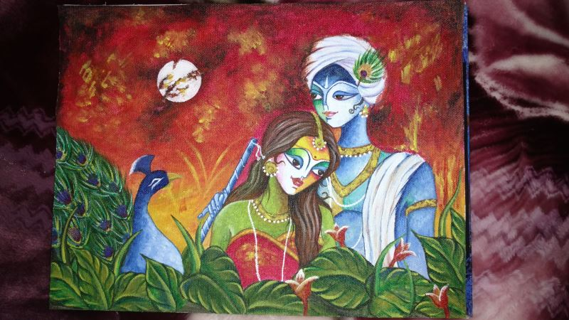 Radha Krishna Painting Fine Art