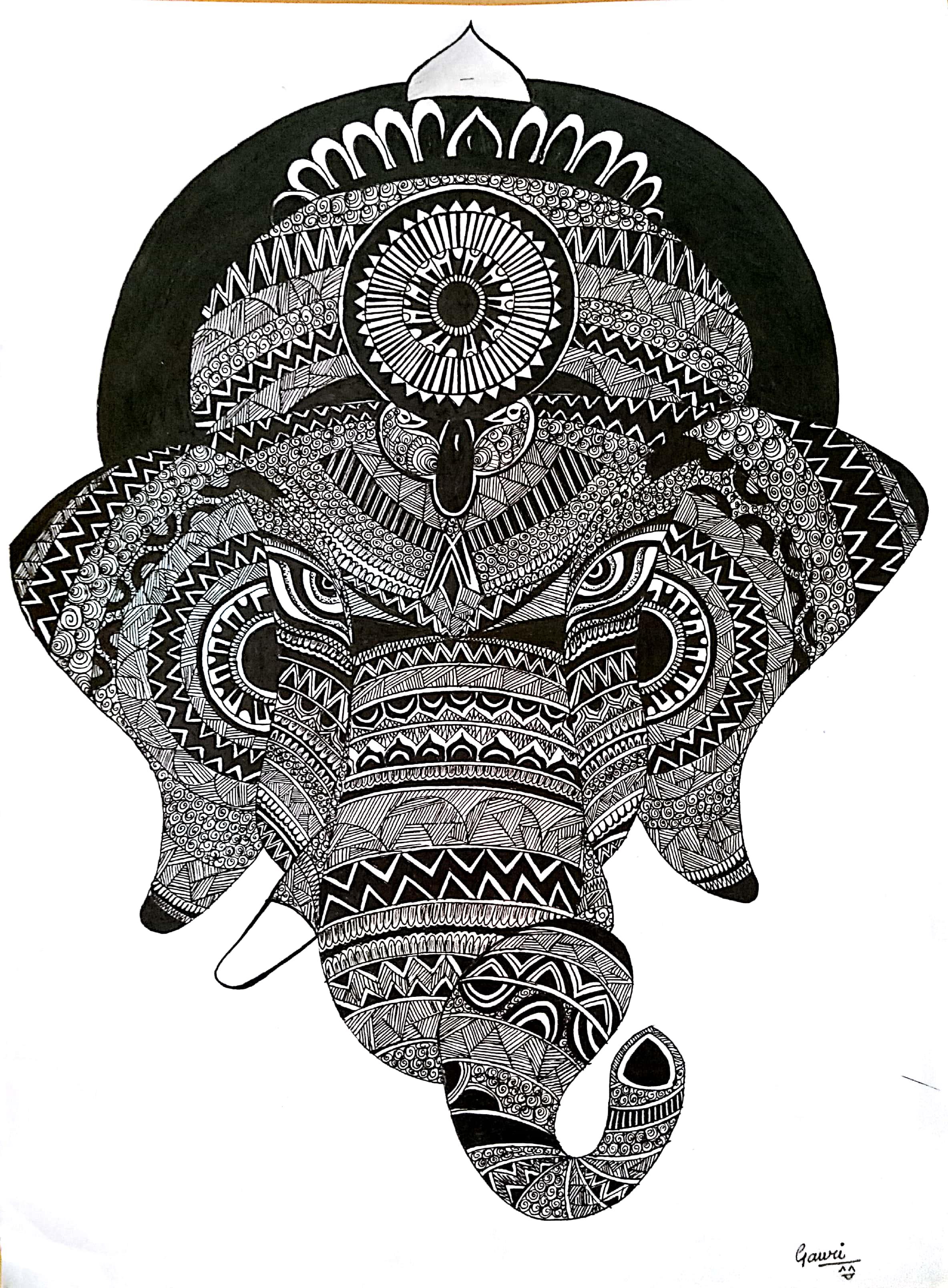 A Ganpati Doodle Fine Art