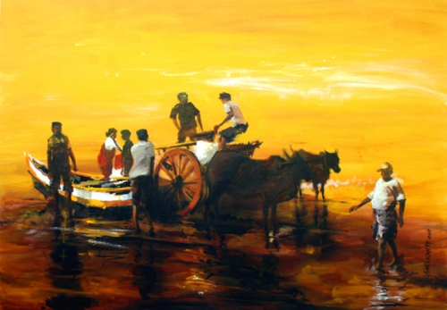 Best Oil Painting Nature by Vijay Shelwante
