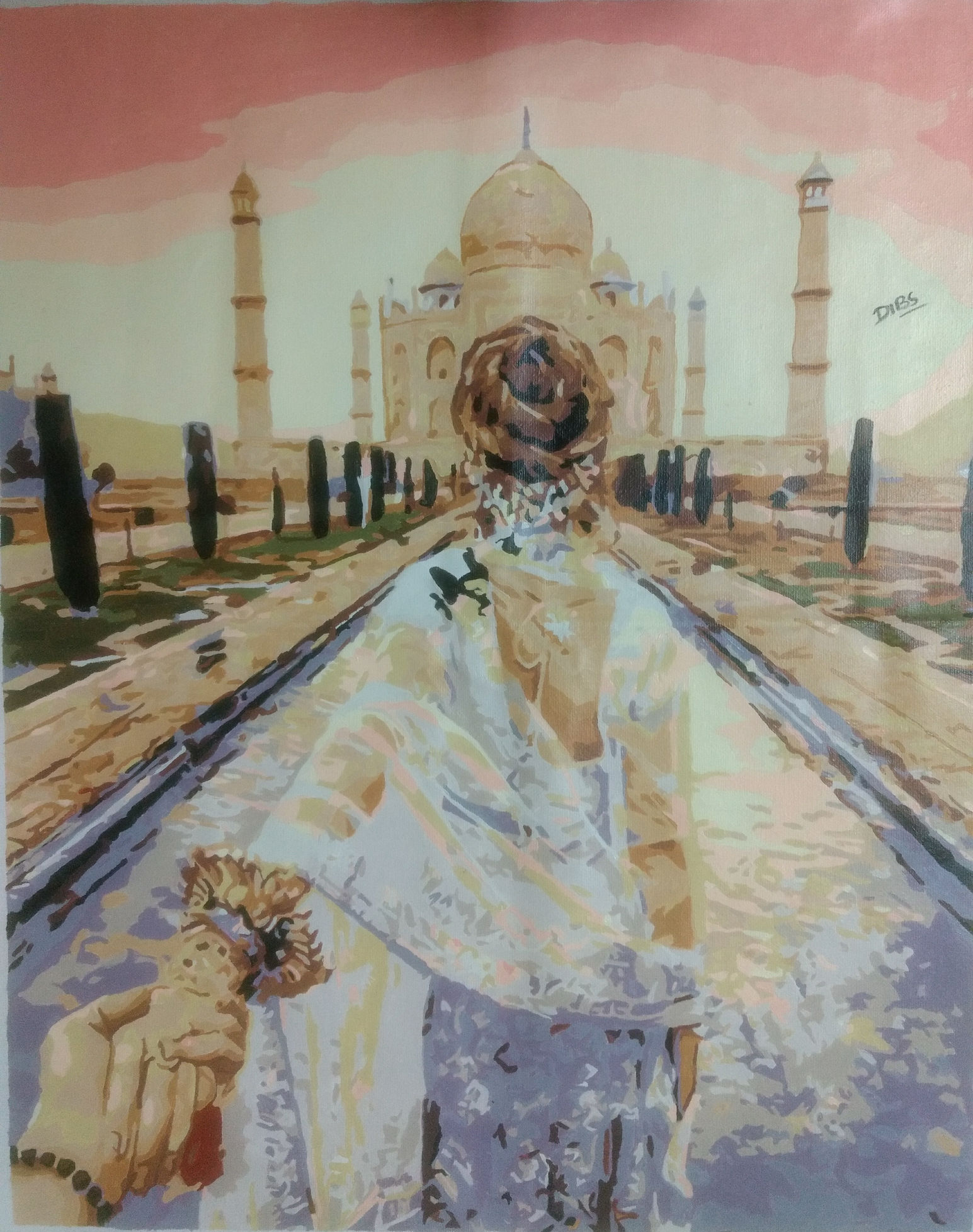 Romance At Taj Mahal  Series India Fine Art
