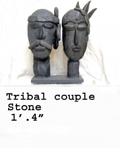 Tribal couple Sculpture