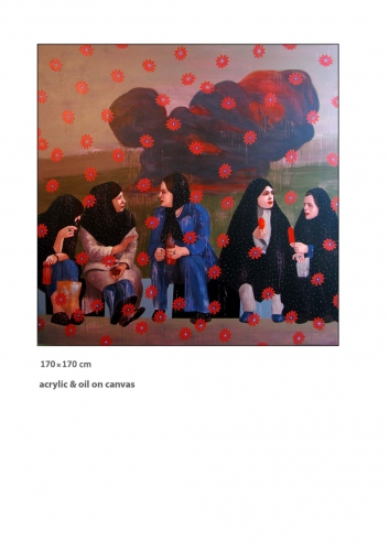 Womens Painting On Canvas by Amir Dastmardi
