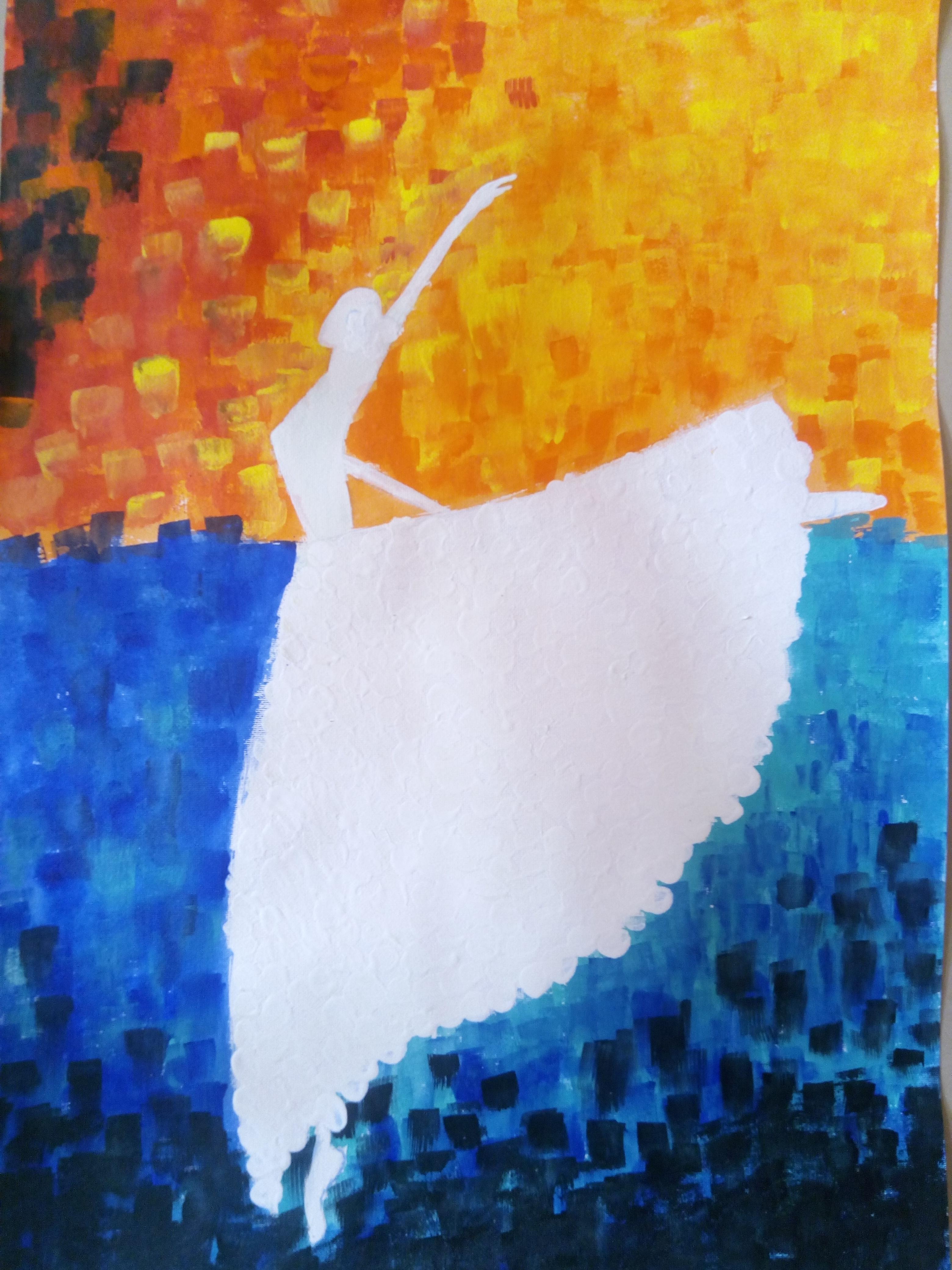 A Dancing Ballerina Fine Art by Juhi Jujar