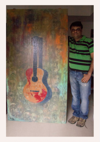 Guitar Painting Fine Art