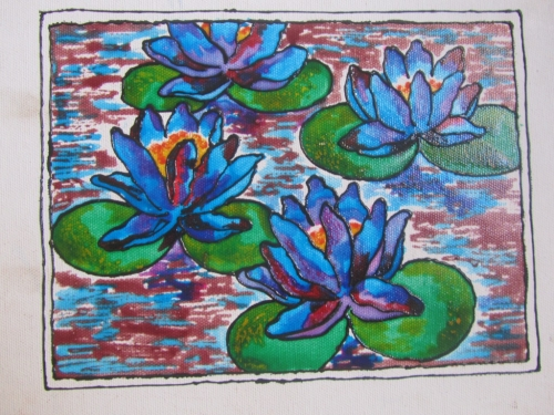 Creation Lotus Painting Fine Art