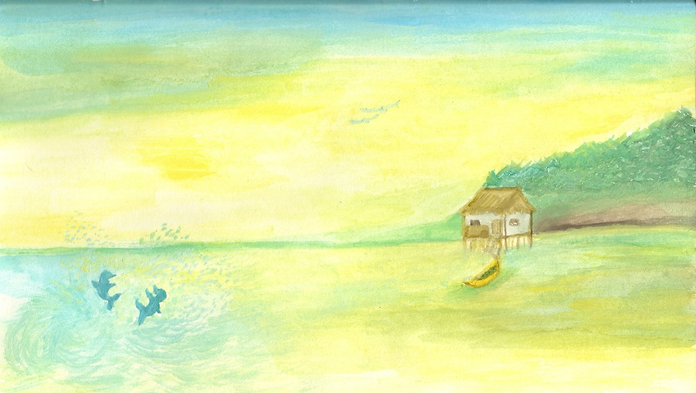 Tranquility Watercolor Painting