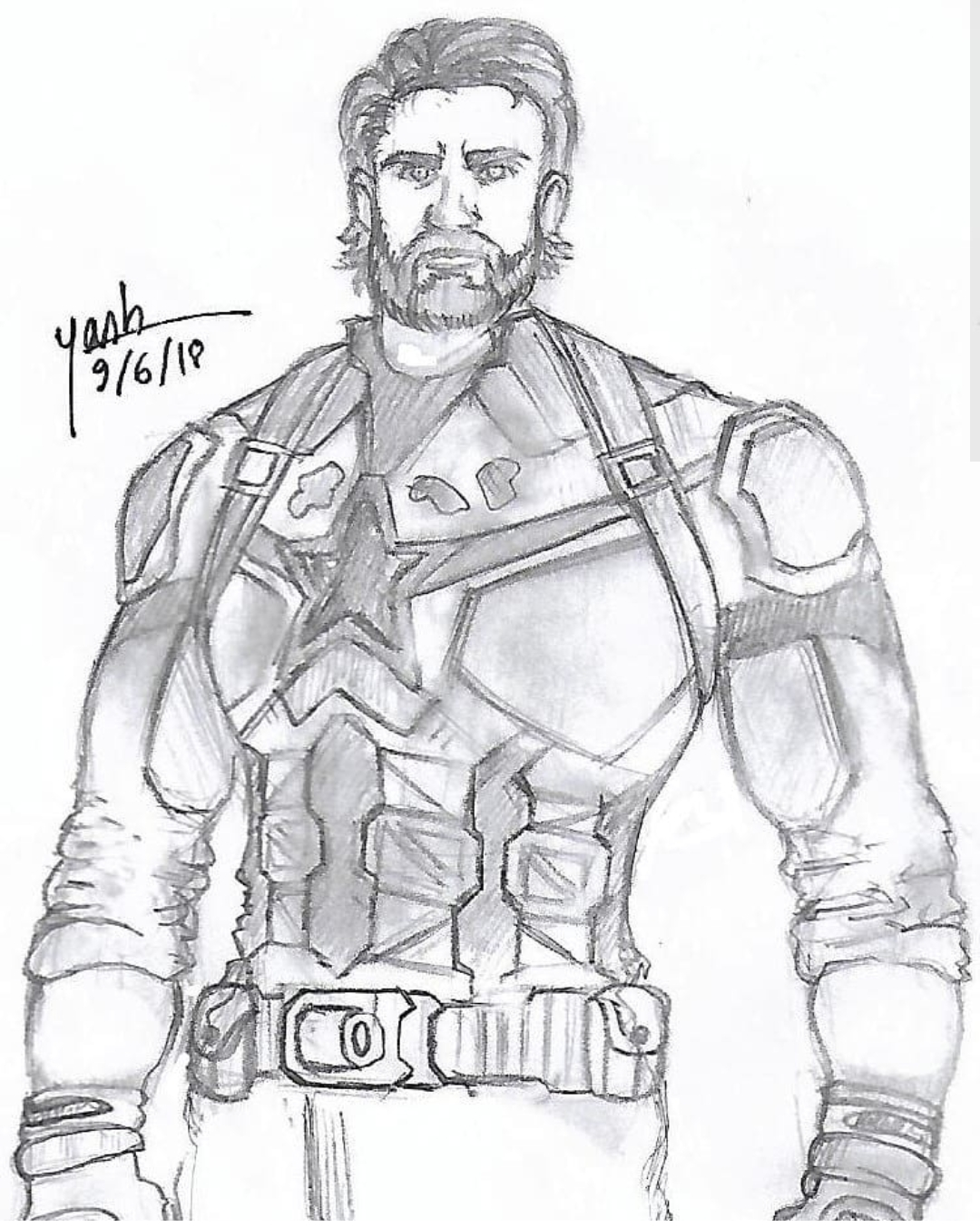 Captain America In Infinty War  Fine Art