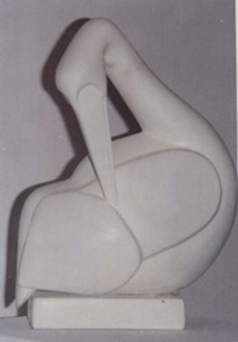 Introversion Swan Sculpture