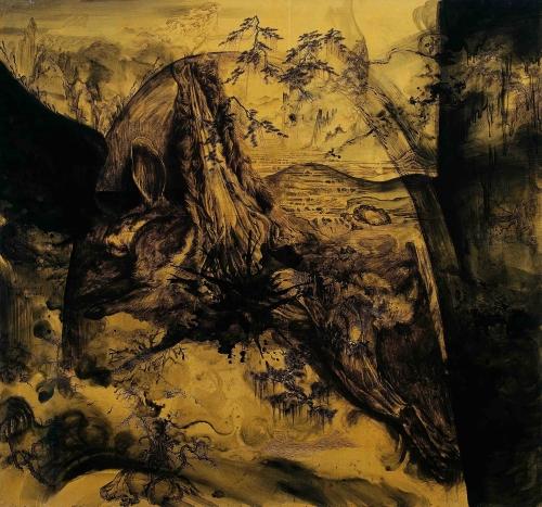 Buddhist Scriptures Fine Art by Hu Zhiying