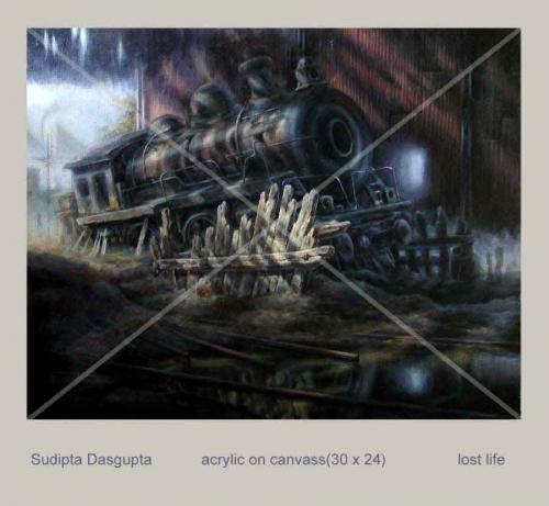 Acrylic Painting by Sudipta Dasgupta