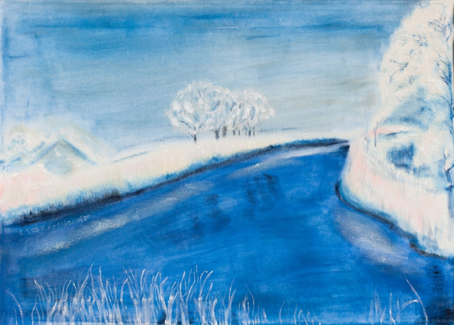 Landscape in winter Fine Art  by Claudia Luethi Alias Abdelghafar