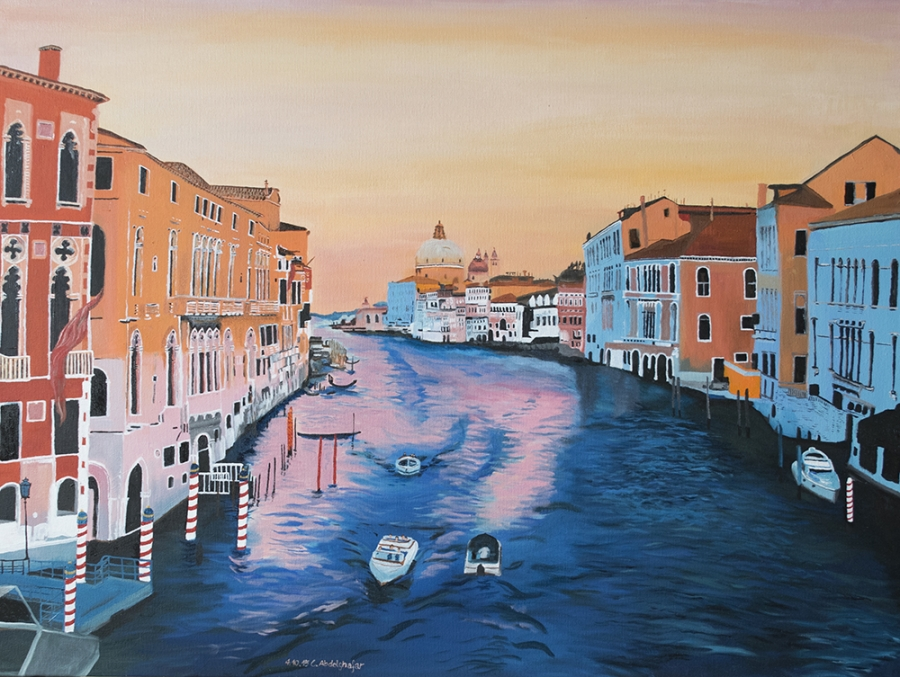 Venice while sunset