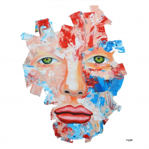 Abstract Portrait Painting by Flavio Galvan